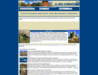 alleuropeaccommodation.com screenshot