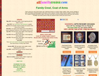 allfamilycrests.com screenshot