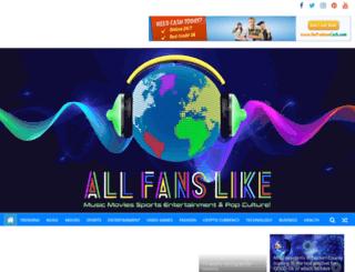 allfanslike.com screenshot