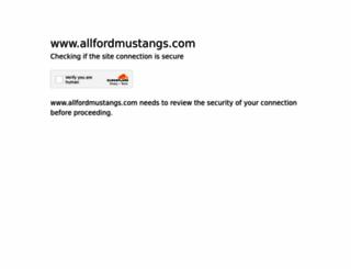 allfordmustangs.com screenshot