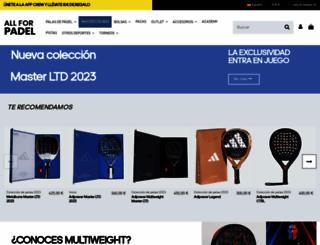 allforpadel.com screenshot