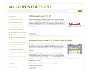 allfreecouponcodes.blogspot.com screenshot