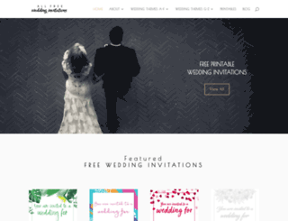 allfreeweddinginvitations.com screenshot