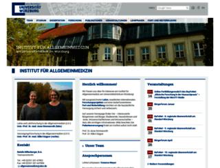 allgemeinmedizin.uni-wuerzburg.de screenshot
