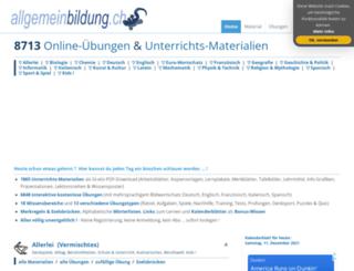 allgemeinwissen.ch screenshot