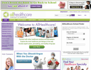 allhealthcare.com screenshot