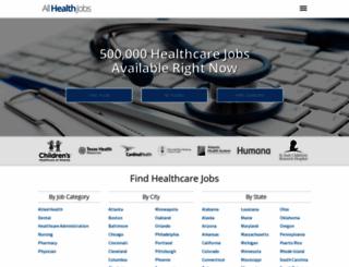 allhealthjobs.com screenshot
