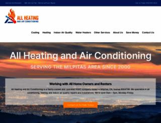 allheatingandairconditioning.com screenshot