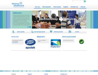 alliance-healthcare.no screenshot