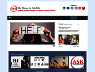 allianceforsafekids.org screenshot