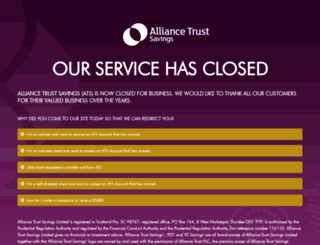 alliancetrustsavings.co.uk screenshot