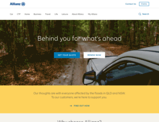 allianz.com.au screenshot