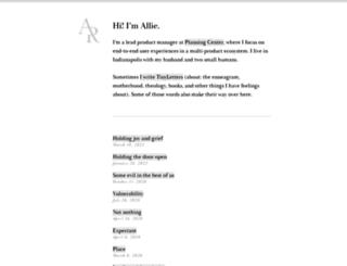 alliecreative.com screenshot