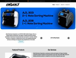 alliedelectronicscorp.com screenshot