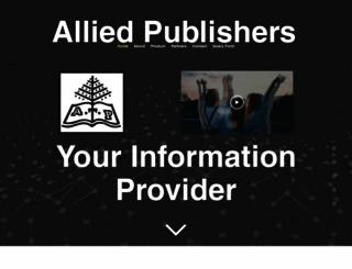 alliedpublishers.com screenshot