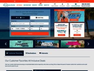 allinclusiveoutlet.com screenshot