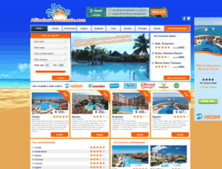 allinclusivevakantie.com screenshot