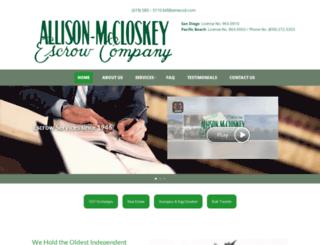 allisonmccloskeyescrow.com screenshot