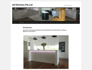 allkitchens.com.au screenshot