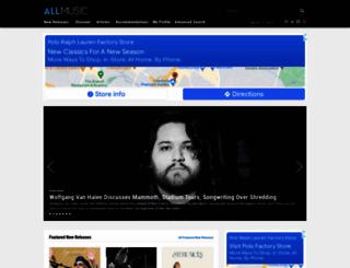 allmusic.com screenshot