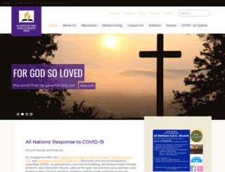 allnationsfaithtemple22.adventistchurchconnect.org screenshot