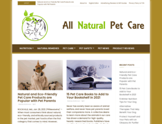 allnaturalpetcare.com screenshot