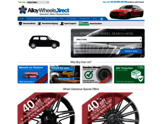 alloywheelsdirect.net screenshot