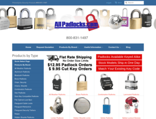 allpadlocks.com screenshot