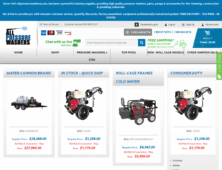 allpressurewashers.com screenshot