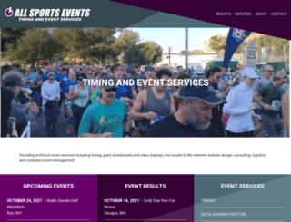 allsportsevents.com screenshot