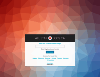 allstarjobs.ca screenshot