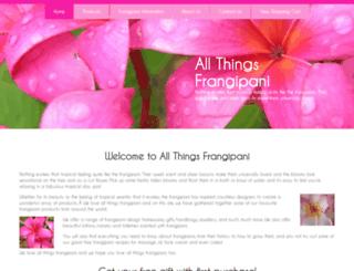 allthingsfrangipani.com screenshot