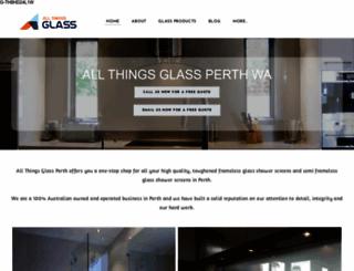 allthingsglass.com.au screenshot
