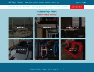 allvinylfabrics.com screenshot