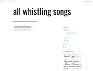 allwhistlingsongs.blogspot.com screenshot