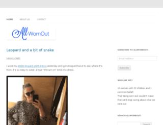 allwornoutblog.com screenshot