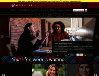 alma.edu screenshot