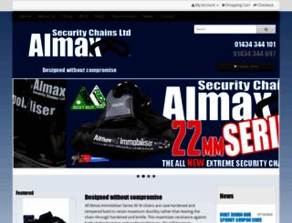 almax-security-chains.co.uk screenshot