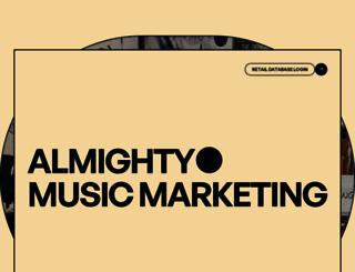 almightymusicmarketing.com screenshot
