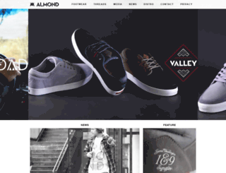 almondfootwear.com screenshot