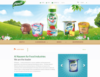 alnaseemdairy.com screenshot