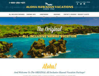 aloha-hawaiian.com screenshot