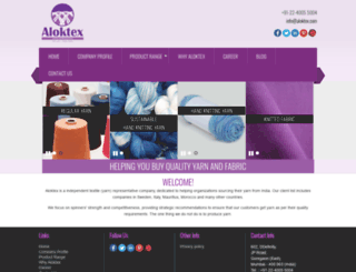 aloktex.com screenshot