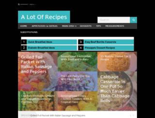alotofrecipes.com screenshot
