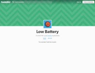 alowbattery.tumblr.com screenshot
