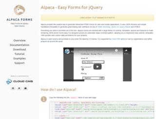 alpacajs.org screenshot