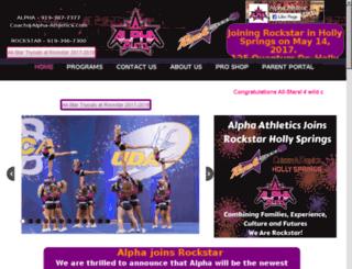 alpha-athletics.com screenshot