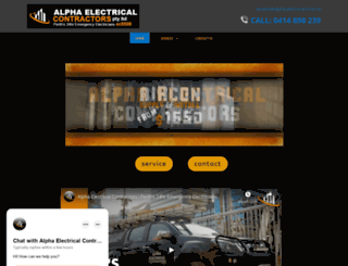 alpha-electrical.com.au screenshot