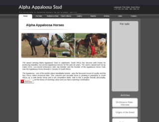 alphaappaloosa.com screenshot