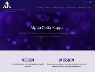 alphadeltakappa.org screenshot